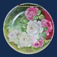 Signed Vintage Royal Art Italian Hand Painted Roses on china by T Duval