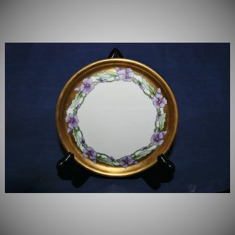 Vintage Haviland France Floral and Gold Painted Plate
