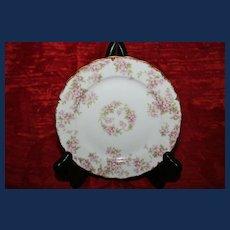 Vintage Elite Works Limoges Pink Floral Plate