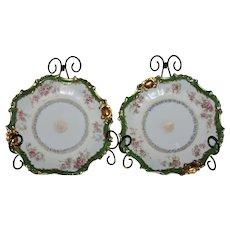 Antique Set of B & H (Blakeman & Henderson) 18 kt Gold Limoges Display Dishes