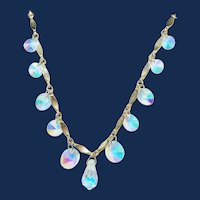 Vintage Sarah Cov. Rivoli Crystal Fire Necklace