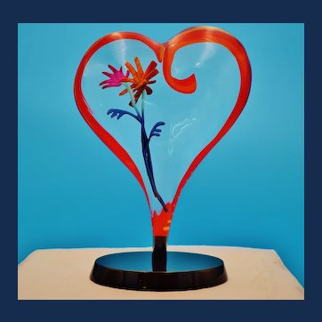 "Simon Bull Numbered Heart Shaped Acrylic Creation ""Amore"""