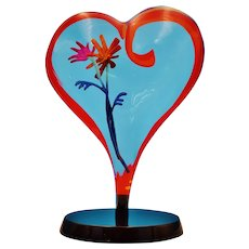 "Simon Bull Numbered Heart Shaped Acrylic Creation ""Amore"""