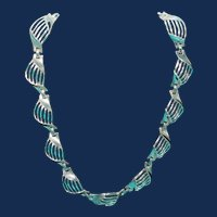 Vintage Trifari Plated Silver Toned Necklace
