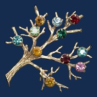 Vintage Sarah Coventry Family Tree Brooch