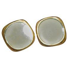 Vintage Napier Cream Color Earrings