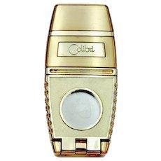 Vintage Gold Tone Colibri Foldable Lighter and Cigar Cutter