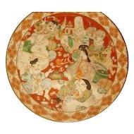 """Antique Large 12"""" Japanese Satsuma style, 7 GODs of Wisdom , Charger"""