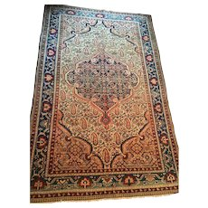 "Finely Knotted  Persian Malayer Oriental Rug, 4'6"" X 6'6"" , ca. 1880-1900 Free shipping"
