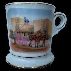 Collector- Old Scene Occupational Shaving Mug-very nice quality-free shipping