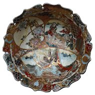 Stunning Early Japanese SATSUMA  LARGE BOWL finely painted inside and out