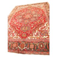Lovely Persian handmade HERIZ Oriental Rug size-8 X 10.8