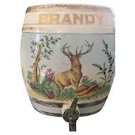 Antique Porcelain English Staffordshire Brandy Spirit Flagon c. 1860