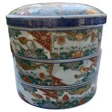 RARE Large Antique Japanese Stacked IMARI  Rice Bowls