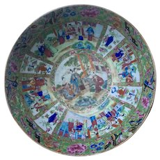 Fabulous 19th c. Chinese Export Famille Rose Medallion large deep punch bowl