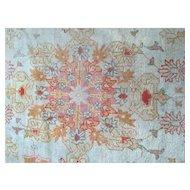 "Fabulous 19th c. Turkish OUSHAK Oriental Rug handmade all wool size 9'  13'5"""