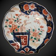 late 19th c. Japanese IMARI Shell Shaped  Plate 8""