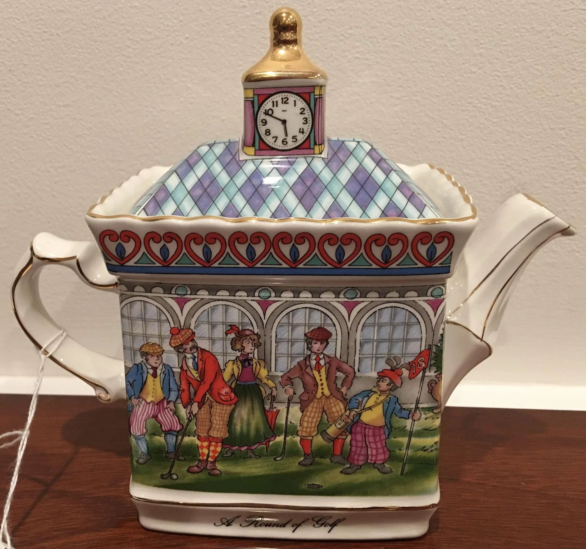 Sadler S Classic Collection Teapot A Round Of Golf Made In England Antique Circa Ruby Lane