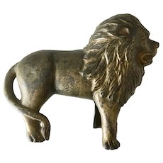 Antique Cast Iron LION BANK or Door Stop