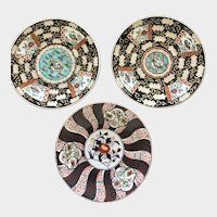 "Three antique Japanese Imari 10"" Plates"