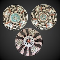 "Three old Japanese Imari 10"" plates"