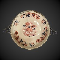 "English Keeling & Co. ca. 1893, Late Mayers Tokio pattern, Round  9"" console dish with beautiful handles"