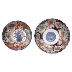 Two  IMARI BOWLS-Meiji period, medium size, beautifully decorated