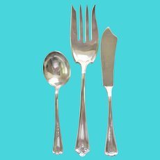Wm. Rogers Silver Plate misc. Serving Pieces-Spreader, Sugar Spoon and Club Serving Fork