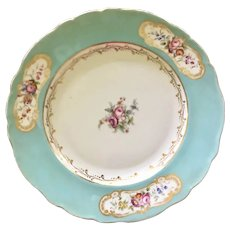 FIVE Beautiful Antique Turquoise decorative plates to display