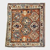 Small Antique Persian Wool Rug Matt
