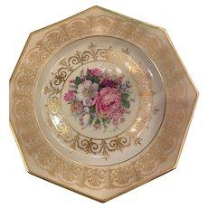 "Set of 8  Antique Rosenthal China Octagon Shape 9"" Dinner Plates"