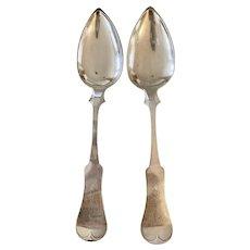 Antique 1898 Gorham Whiting Sterling Silver 5 O/'Clock spoon Pompadour no monogrm