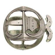 Early 19C Antique French Silver Lady's Belt Buckle Georgian/Regency/Victorian Era