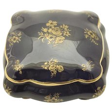 LIMOGES Antique French Porcelain Bonbonnier Candy/Jewelry/Card Box