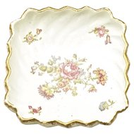 "ANTIQUE French Porcelain Serving Dish ""Flowers"""