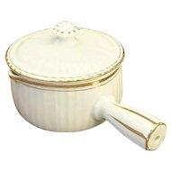 "LOVELY 19C Antique French Porcelain Sauce Serving Casserole/Skillet ""POLEON"""
