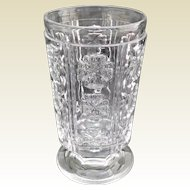 "BACCARAT Antique French Crystal Flower Vase ""Clover"""
