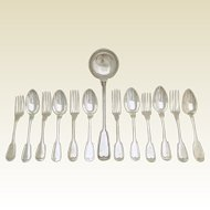 CHRISTOFLE Antique French Silver-plated Flatware Set 13pc