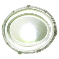Early 20C French Sterling Silver Platter Tray by Compenhout