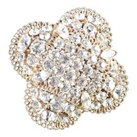 Lisner Domed Rhinestone Brooch Pin