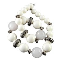 Carol Dauplaise Faux Rose Quartz Bead Necklace