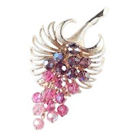 Parklane Bead Cluster Dangle Brooch Pin Pendant