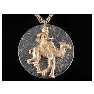 Jeanne Figural Nomad Camel Pendant Necklace Bedouin Arabian