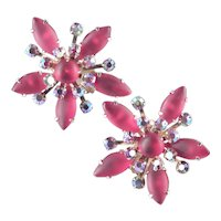 Large Starburst Rhinestone Earrings