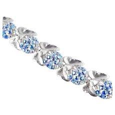 Schiaparelli Rhinestone Link Bracelet