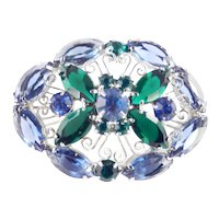 D & E  Juliana Rhinestone Brooch Pin