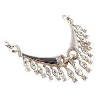 Coro Corocraft Rhinestone Fringe Necklace