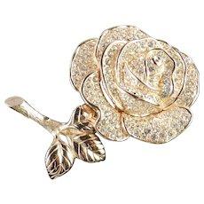 Christian Dior Rhinestone Brooch Pin
