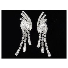 Rhinestone Cascade Chandelier Dangle Earrings