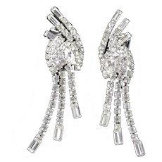 Rhinestone Cascade Chandelier Dangle Earrings